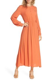 French Connection Essi Crepe Maxi Dres