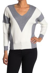 philosophy Chevron V-Neck Knit Sweater