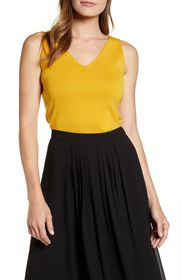 Anne Klein Double V-Neck Knit Tank