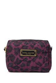Marc Jacobs Leopard Print Quilted Nylon Cosmetics