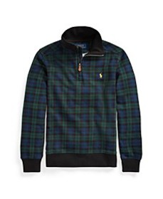 Big Boys Plaid French Terry Pullover