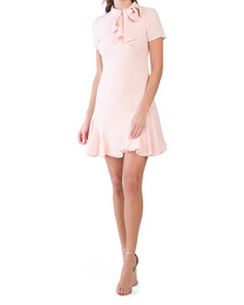 Made In Usa Stretch Crepe Bosher Dress