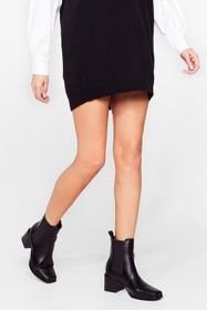 Nasty Gal Black Keep 'Em on Their Toes Faux Leathe