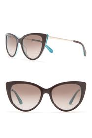 kate spade new york 54mm cat eye sunglasses