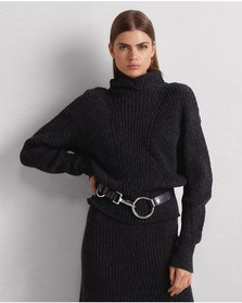 Ralph Lauren Ribbed Cashmere-Wool Sweater