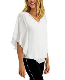 Embellished Poncho Top, Created for Macy's