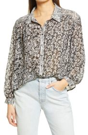 Free People Dani Button-Up Shirt