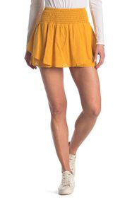 BCBGeneration Smocked High Waisted Woven Skirt