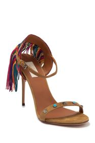 Valentino Embroidered Fringe Stiletto Sandal
