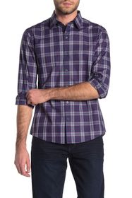 Zachary Prell Plaid Print Regular Fit Shirt