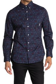 Ben Sherman Long Sleeve Conversational Print Shirt