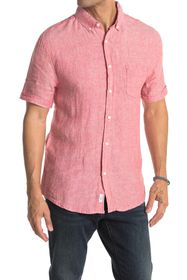 Onia Jack Solid Short Sleeve Button-Down Linen Shi