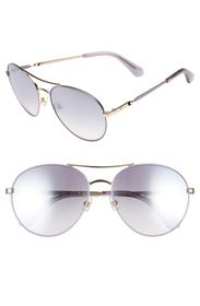 kate spade new york joshelle 60mm polarized aviato