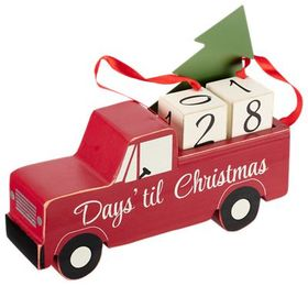Primitives by Kathy Red Truck Days 'til Christmas