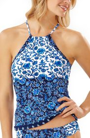 Tommy Bahama Woodblock Reversible Tankini