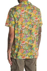 Onia Vacation Camp Collar Retro Floral Print Regul