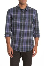 Quiksilver Super Plaid Flannel Modern Fit Shirt