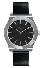 Salvatore Ferragamo Men's 1898 Leather Strap Watch