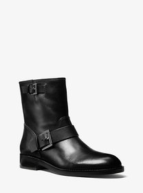 Michael Kors Reeves Leather Moto Boot