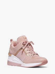 Michael Kors Georgie Leather and Canvas Trainer
