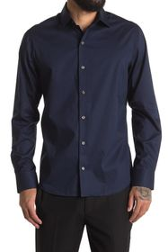 DKNY Long Sleeve Solid Dress Shirt