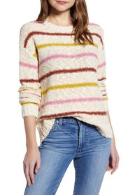 Caslon Slubbed Cotton Blend Sweater