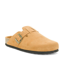 Made In Italy Padded Suede Clogs
