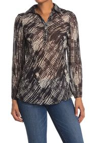 Vertigo Printed Long Sleeve Blouse