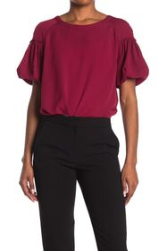 French Connection Ruffle Short Sleeve Blouse