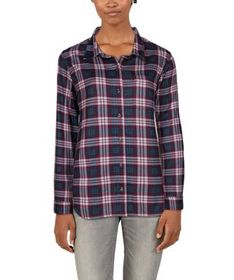 Natural Reflections Knit Flannel Long-Sleeve Shirt