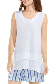 Vince Camuto Two by Vince Camuto Mixed Media Top