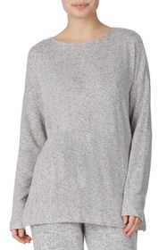 Donna Karan Heathered Knit Lounge Pullover