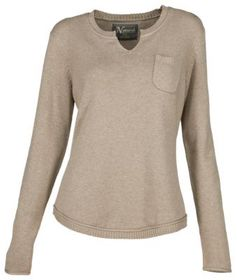 Natural Reflections Notch-Neck Long-Sleeve Sweater