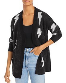 AQUA - Lightning Print Cardigan - 100% Exclusive