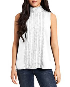 VINCE CAMUTO - Lace Trim Sleeveless Blouse