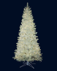 Barcana 7.5' White Iridescent Tree with LED Lights