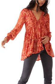 Free People Dark Romance Tunic Top