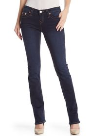 True Religion Bille Mid Rise Straight Leg Jeans
