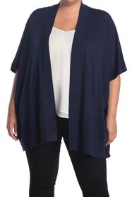 Tahari Open Front Poncho Knit