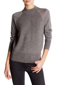 DKNY Mock Neck Wool Sweater