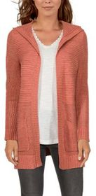Natural Reflections Open-Knit Long-Sleeve Cardigan