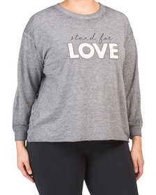 Plus Stand For Love Pullover Top