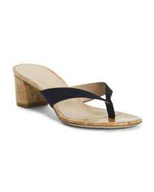 Made In Spain Leather Low Heel Thong Sandals