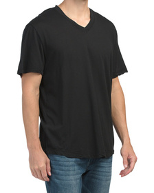 Made In Usa Clear Jersey V-neck T-shirt