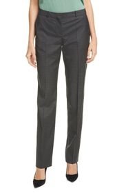 BOSS Tamea Vichy Check Straight Leg Wool Pants