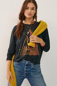 Anthropologie Def Leppard Graphic Tee