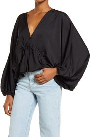 Free People Elouise Satin Blouse