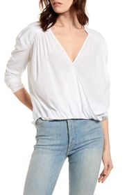 Splendid Foley Surplice Neck Top