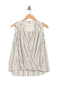 Splendid Shannon Stripe Print Surplice Tank Top