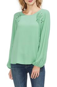 Vince Camuto Lace-Up Long Sleeve Blouse